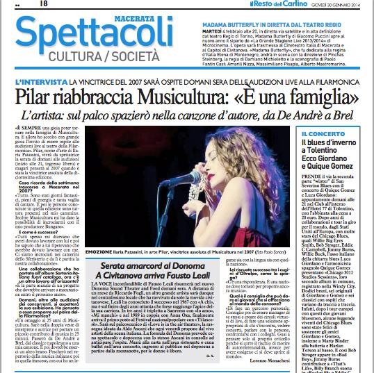 Il Resto del Carlino - Macerata | 2014