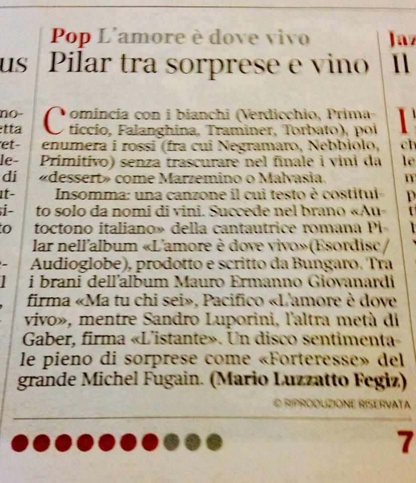 Corriere della Sera | 3 Dicembre 2015